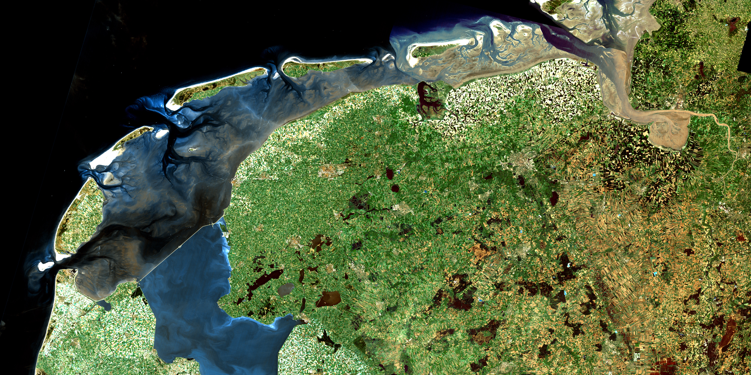Aerial image of the Waddenzee, The Netherlands